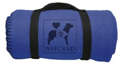 Fleece Blanket with the New Hampshire Coalition for the Support of Service Dogs logo